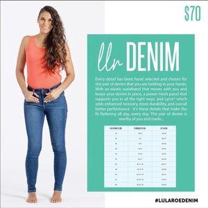 LuLaRoe denim skinny jeans size 24